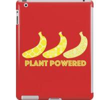 'Plant Powered' Vegan Banana Design iPad Case/Skin