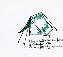 Psalm 61: Tent by countedhairs