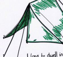Psalm 61: Tent Sticker