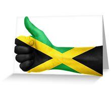 Jamaica OK Hand Flag Greeting Card