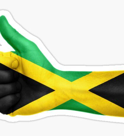 Jamaica OK Hand Flag Sticker