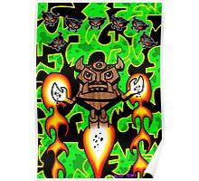 Tiki Defeats CO2 Devils Poster