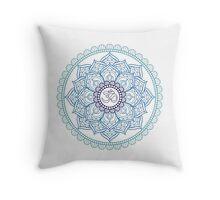 Mandala Hindu Blue Tumblr Throw Pillow