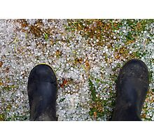 CHILLY TOES Photographic Print
