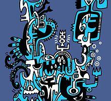 Aztec Fishing Hook by KIDTIKI