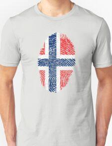 Norway Fingerprint Flag Unisex T-Shirt