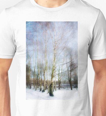 Winter Silver Birch Trees Unisex T-Shirt