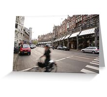 Amsterdam Rush Greeting Card