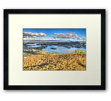 Up In The Air #2 - Black Mountain, Canberra - The HDR Experience Framed Print