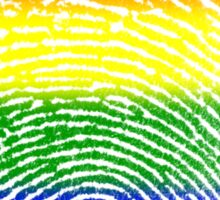 Rainbow Fingerprint LGBT Sticker