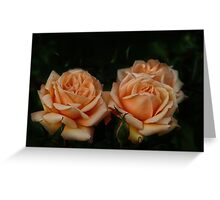 Apricot Showers Greeting Card