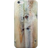 Fence Panels Untreated and Weathered iPhone Case/Skin