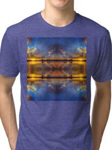 Winter warmth in blue & gold Tri-blend T-Shirt