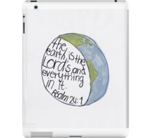 Psalm 24: The Earth iPad Case/Skin
