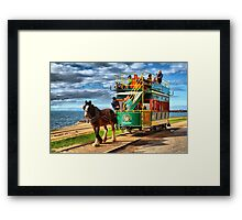 Horse Drawn Tram Framed Print