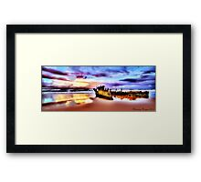 Wrecked In Paradise Framed Print