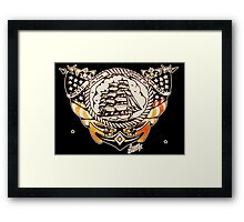 Tattoo Ship Framed Print