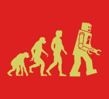 Sheldon Robot Evolution Baby Tee