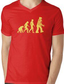 Sheldon Robot Evolution Mens V-Neck T-Shirt