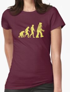 Sheldon Robot Evolution Womens Fitted T-Shirt