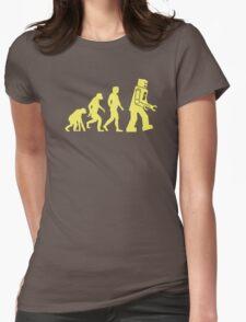 Sheldon Robot Evolution Womens Fitted T-Shirt