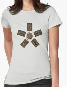 Art deco Dollhouse Womens Fitted T-Shirt