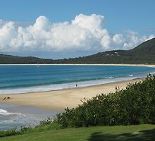 Clouds Over Trial Bay, South West Rocks. by Maureen Dodd