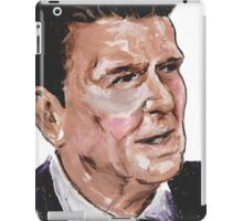 Ronald Reagan Picture Quote - What History Teaches iPad Case/Skin