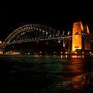 Night Lights - Sydney Harbour Bridge by Tony Phillips