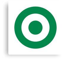 Green Roundel Canvas Print