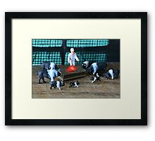 "Petunia had gathered the family around Porky's hospital bed when the doctor announced ""he's cured""! Framed Print"