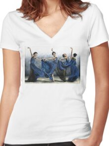 Sequential Dancer Women's Fitted V-Neck T-Shirt
