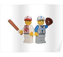 LEGO Baseball Players Poster