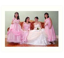 bride's maid, wedding and flower girl gown design 4 Art Print