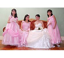 bride's maid, wedding and flower girl gown design 4 Photographic Print