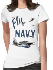 Fly Navy Womens Fitted T-Shirt