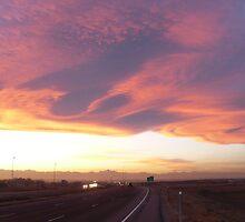 Great clouds over Denver around sunset by BillH