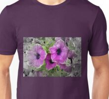 Petunias Selectively Colored Unisex T-Shirt