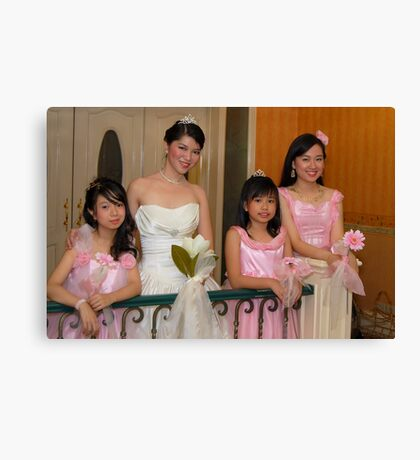 bride's maid, wedding and flower girl gown design 6 Canvas Print