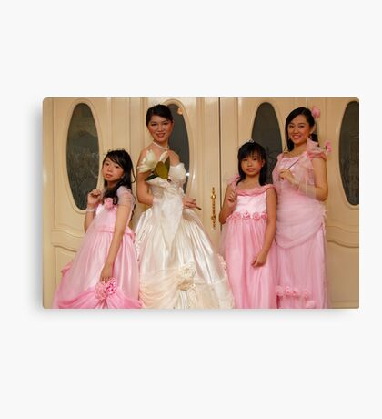 bride's maid, wedding and flower girl gown design 7 Canvas Print