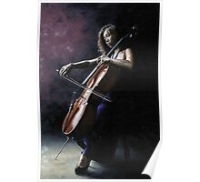 Emotional Cellist Poster