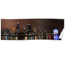 Yarra River Night Lights Poster