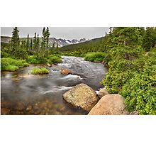 Colorado Indian Peaks Wilderness Creek Panorama Photographic Print