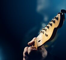 Guitarist on stage by Johan Swanepoel