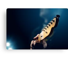 Guitarist on stage Canvas Print