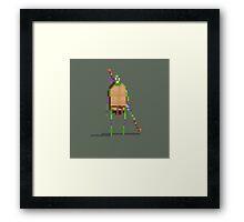 Donatello Pixelart fan art Framed Print