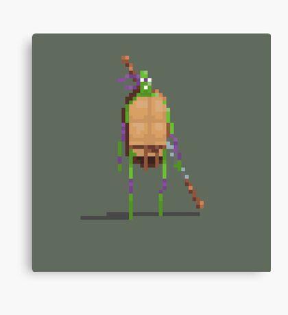 Donatello Pixelart fan art Canvas Print