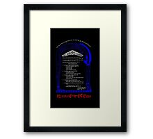 Liber Oz Thelemic Rights of Man  Framed Print