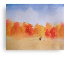 Deer in the Mist Canvas Print
