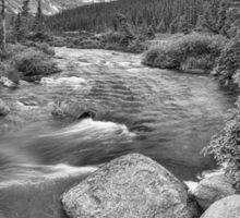 Colorado Indian Peaks Wilderness Panorama BW Sticker